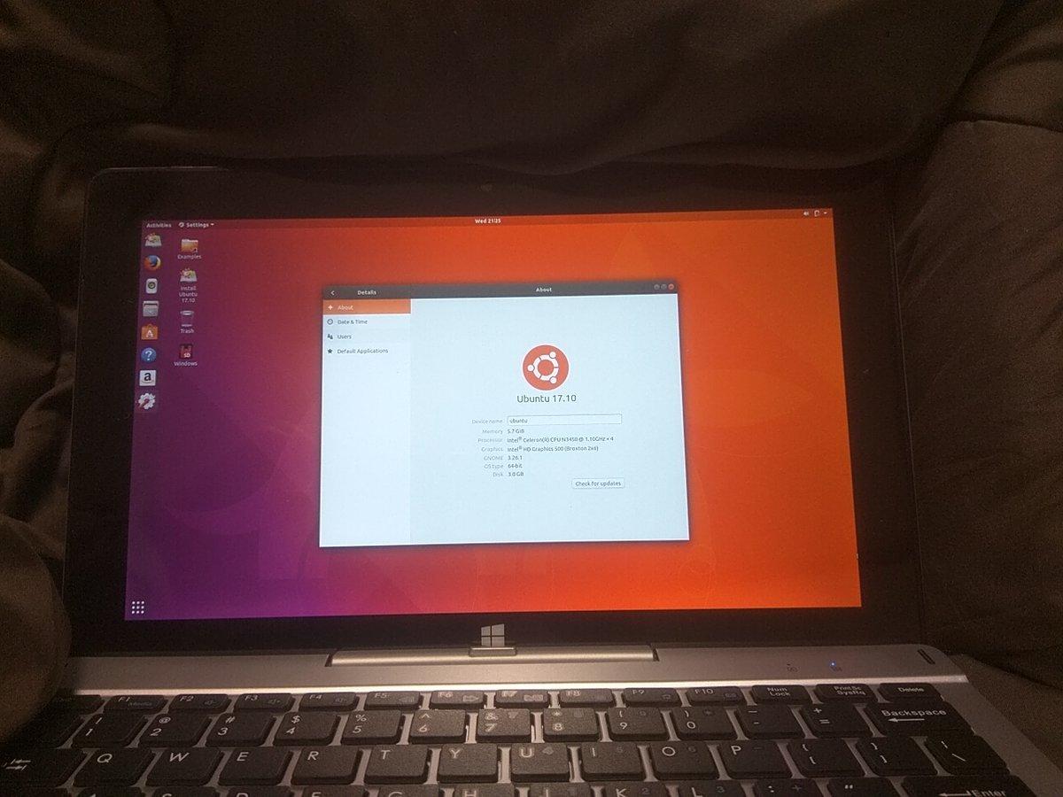 次世代ApolloLakeタブレット EZPad6Pro 購入&Ubuntu17 10ライブ